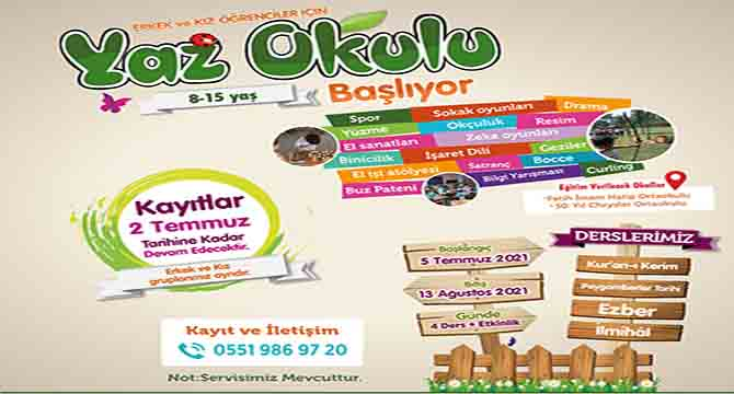 TÜGVA Gebze ''yaz okulları'' başlıyor