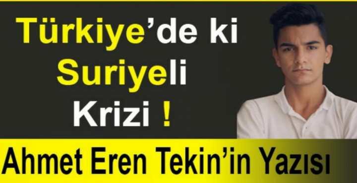 Türkiye'de ki Suriye'li Krizi