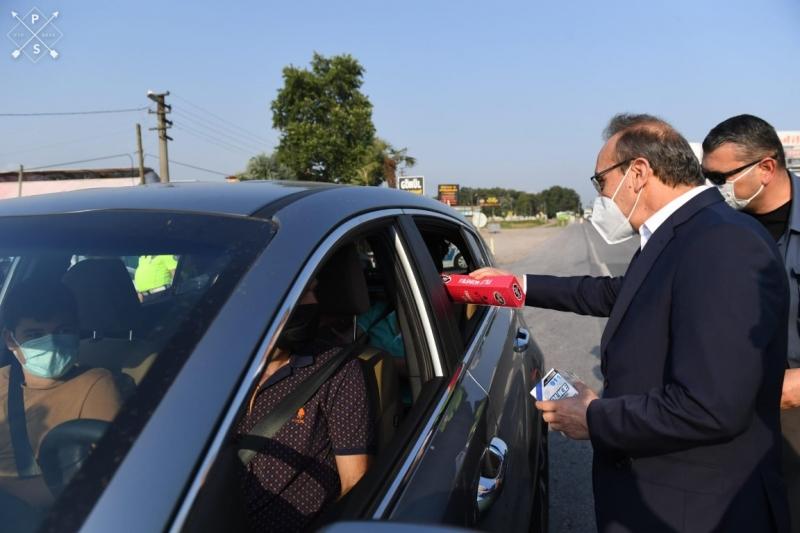 Vali Yavuz Trafik Denetimlerine Katıldı