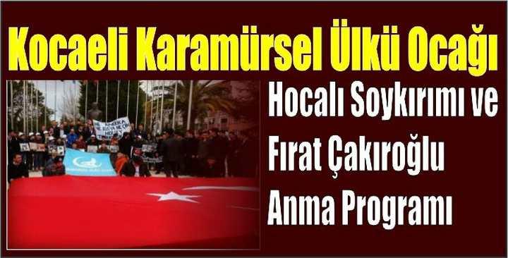 Karamürsel'de Hocalı Katliamı Yad Edildi