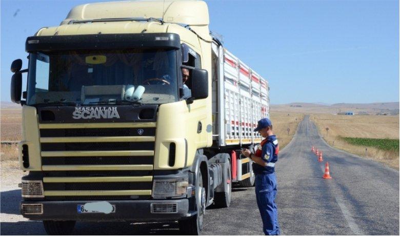 Tonajlı araçlara yönelik trafik uygulaması yapıldı