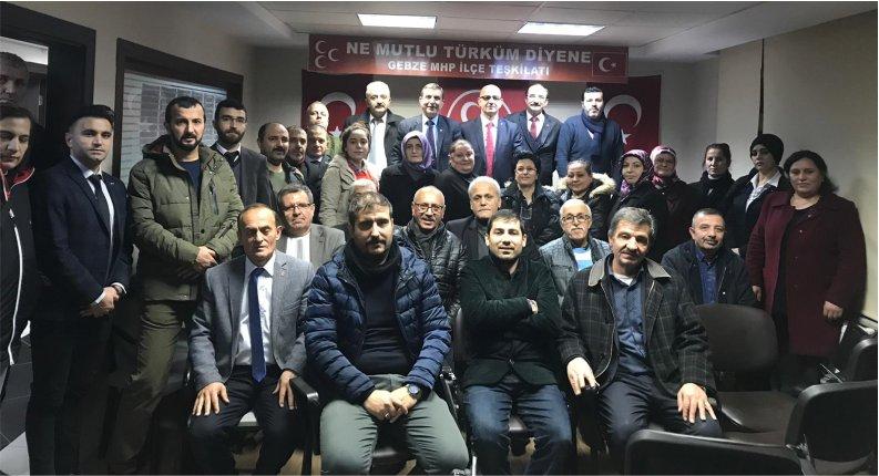 Ünlü'den MHP İlçe Teşkilatını ziyaret