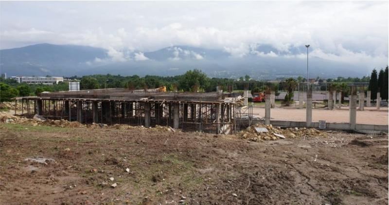 Uzuntarla Kültür Merkezi'nin temel kaba inşaatı tamamlandı