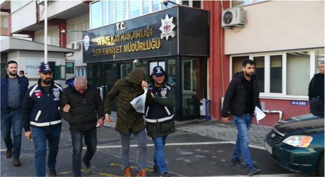 Yakalanarak gözaltına alındılar!
