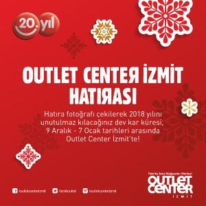 Outlet Center İzmit'te Dev Kar Küresi