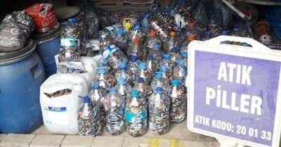 2 bin ton atık pil geri dönüştürüldü