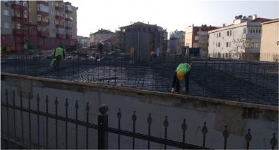 7 katlı otoparkın zemin kat çalışmaları başlıyor