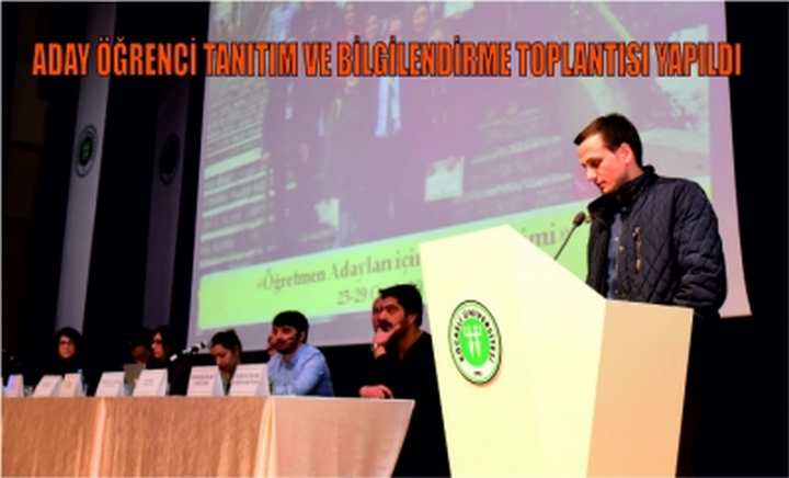Aday Öğrenci Tanıtım ve Bilgilendirme Toplantısı Yapıldı