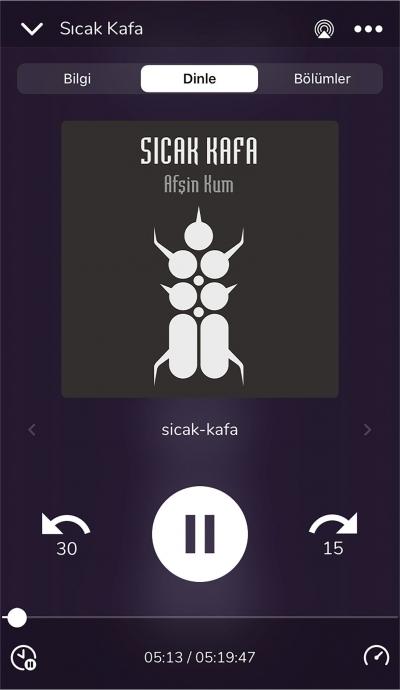 Afşin Kum'un ödüllü romanı Sıcak Kafa Audioteka'da