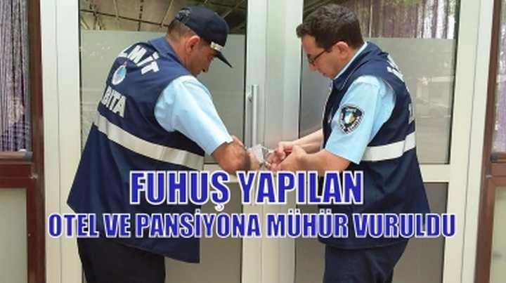 ALİKAHYA'DAKİ PANSİYONA MÜHÜR