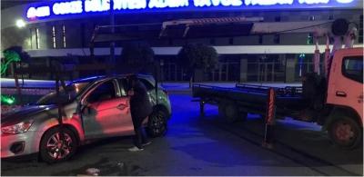 Alkollü sürücü feci takla attı