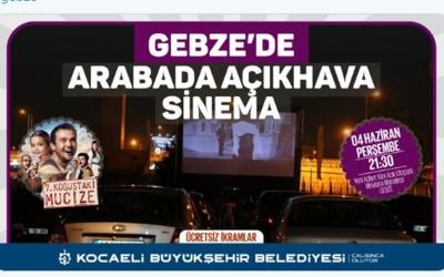 Arabada sinema keyfi Gebze'de