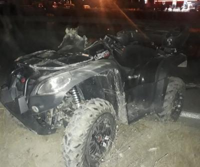 ATV ARACI TIR'LA ÇARPIŞTI