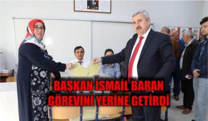 Başkan İsmail Baran  görevini yerine getirdi