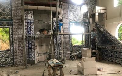 Başkan Şayir, İmam-ı Şafii Cami inşaatını inceledi
