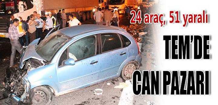 EM'deki kazanın bilançosu: 51 yaralı, 24 araç hasarlı