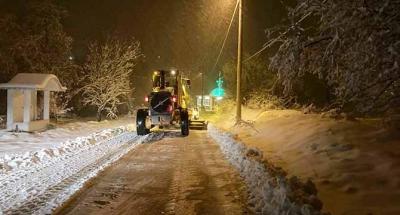 Büyükşehir Belediyesi kar timleri görevde
