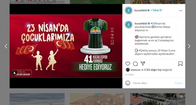 Büyükşehir'den 41 kişiye Kocaelispor forması