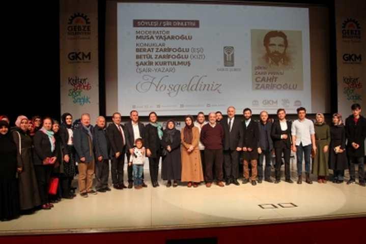 CAHİT ZARİFOĞLU GEBZE'DE ANILDI!