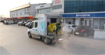 Çarşı Yapı ve Küçük Sanayi Sitesi dezenfekte edildi