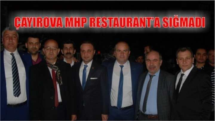 ÇAYIROVA MHP RESTAURANT'A SIĞMADI