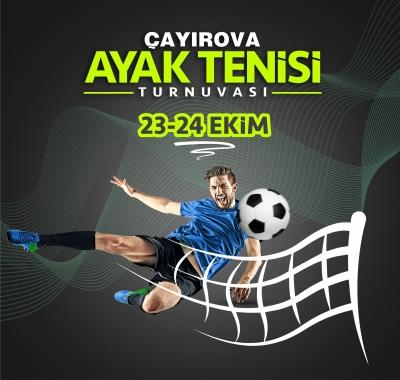 Çayırova'da Ayak Tenisi Turnuvası