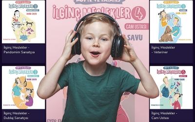 Çocuklar sesli kitapla ilginç meslekleri tanıyor