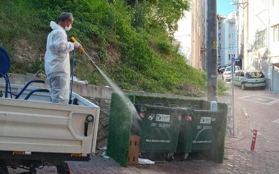 Çöp konteynerlerine anında müdahale