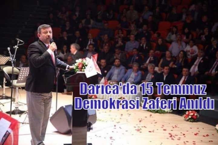 Darıca'da 15 Temmuz Demokrasi Zaferi Anıldı