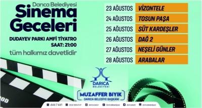 Darıca'da Sinema Geceleri Başlıyor