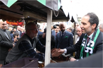 Dr. Fatih Erbakan Kocaeli ye geldi.