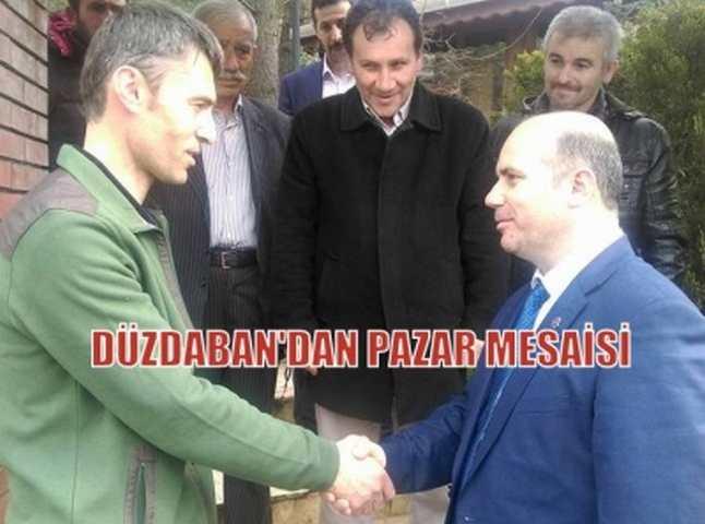 DÜZDABAN'DAN PAZAR MESAİSİ