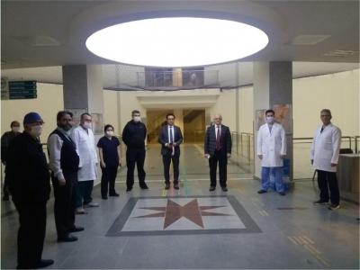 Ergüney Hastane Ziyaretlerinde Bulundu