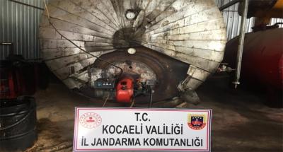 Gebze'de 6 bin litre kaçak akaryakıt ele geçirildi