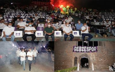 Gebzespor'dan coşkulu karşılama