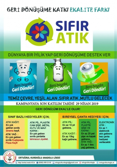 """GERİ DÖNÜŞÜME KATKI """"EKALİTE"""" FARKI"""