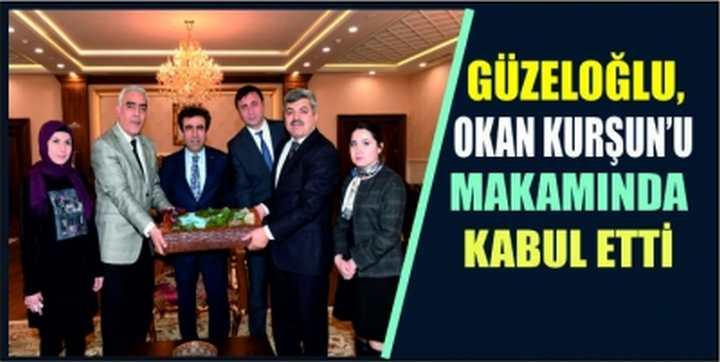 Güzeloğlu, OKAN KURŞUN'U MAKAMINDA KABUL ETTİ.