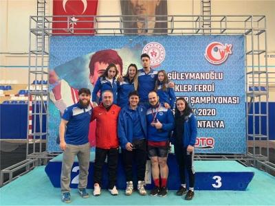 Halterciler, Türkiye Şampiyonası'ndan mutlu döndü