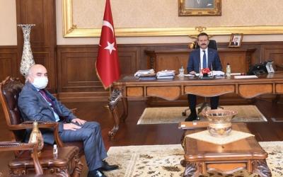 İl Kültür ve Turizm Müdürü Fatih Taşdelen'den Vali Aksoy'a ziyaret
