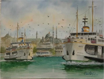 İstanbul vapurlarının ünlü ressamı Gebze'de