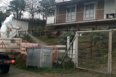 İzmit Belediyesinden köylerde Covid-19 temizliği