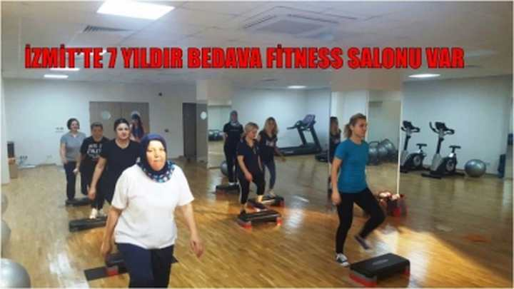 İZMİT'TE 7 YILDIR BEDAVA FİTNESS SALONU VAR