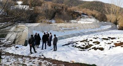 İzmit'te hasar gören seralar yerinde incelendi