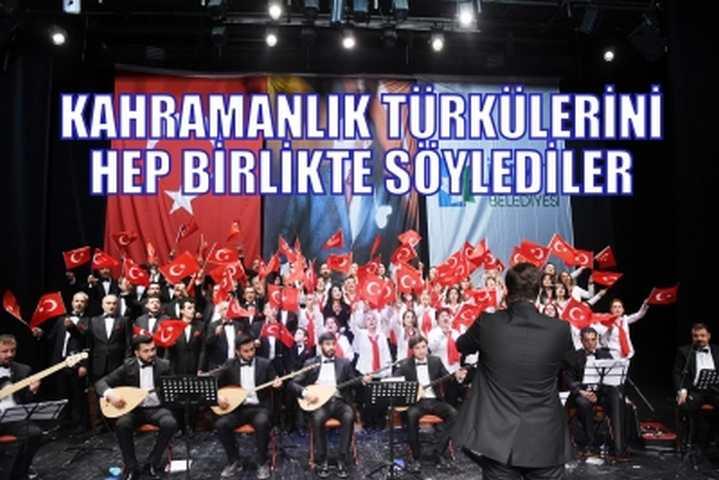 Kahramanlık Türküleri Söylendi
