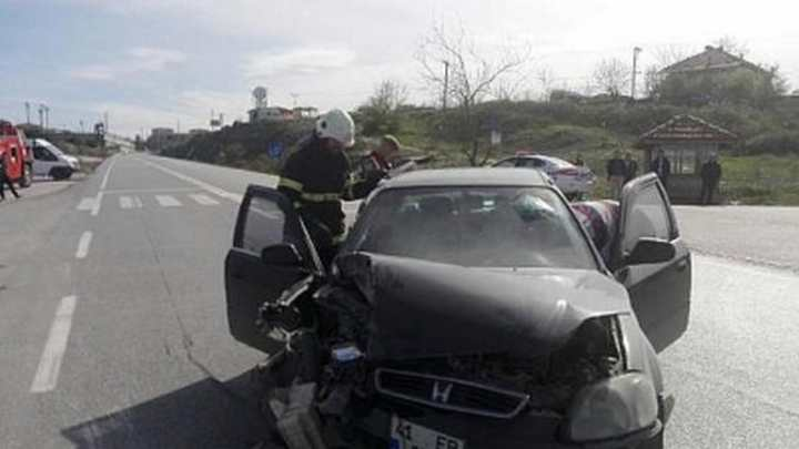 Kandıra yolunda kaza: 2yaralı