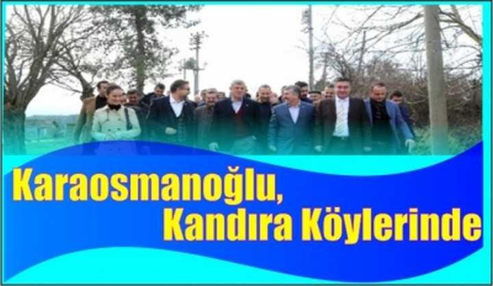 Karaosmanoğlu, Köylüleri Ziyaret Etti
