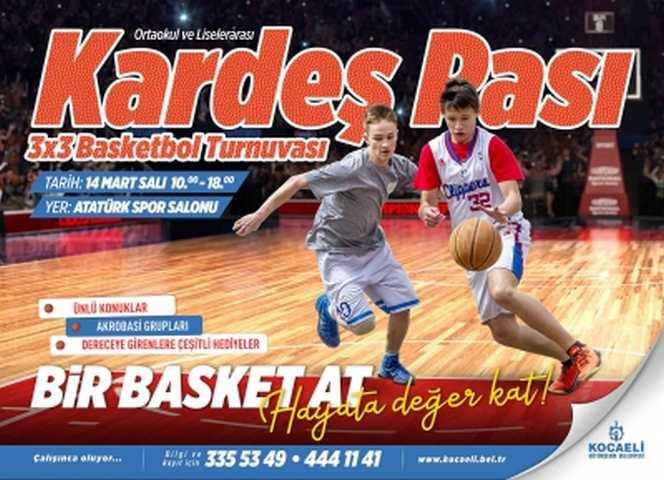 Kardeş Pası Basketbol Turnuvası yarın oynanacak