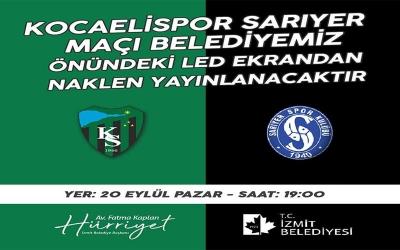Kocaelispor'un ilk maçını, canlı yayınlayacak