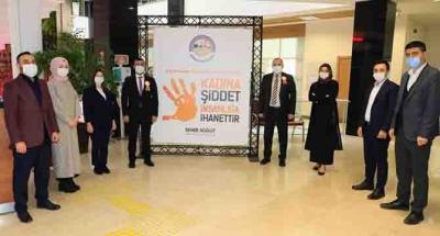 Körfez Belediyesi 'kadına şiddete' hayır dedi