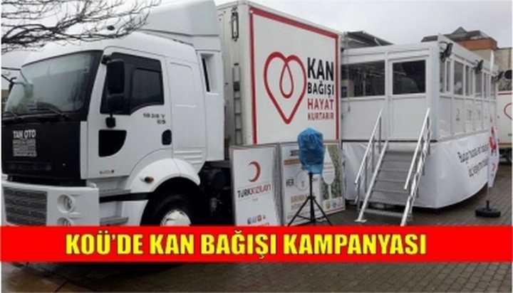 KOÜ'de Kan Bağışı Kampanyası